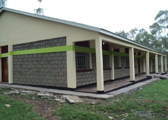 The newly-constructed and equiped dining hall and kitchen facility at Miyare ATC.