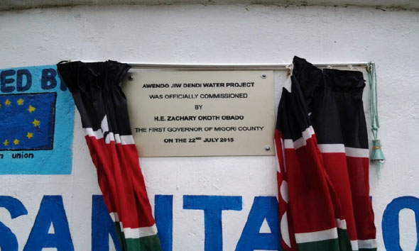 Awendo Jiw-dendi water project in Awendo Sub-County – Partnership between the County Government and the Water Services Trust Fund
